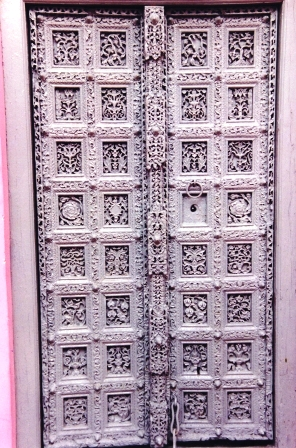 Wooden Door Of Mahanta's Residence