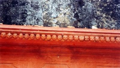 Faces In Row On Garbhagriha Wall