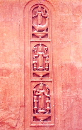 Divine Figures On Outer Wall Of Garbhagriha