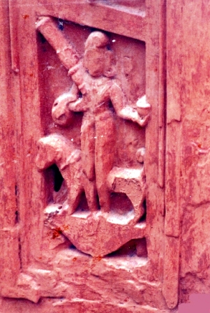 Bhairava On Outer Wall Of Garbhagriha (North)
